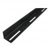 Опорные уголки для поддержки оборудования L-TYPE 1000мм, LDL96, комплект 2 штуки, черный, RackPro