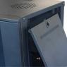 """Серверный шкаф 19""""  9U DW6609 (600x500x500мм), настенный, 2 секции, стекл. дверь, черный, RackPro"""