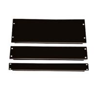Фальш-панель, заглушка 2U в серверную стойку/шкаф, черная, BLPanel2U