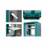 """Серверный шкаф 19"""" 36U RackPro EA6A36 (600х1000х1800), перф, модерн, вентиляторы/розетки в комплекте"""