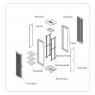 """Серверный шкаф 19"""" 36U RackPro SE-TY4 6037  (600х1000х1800) черный, блок вентиляторов в комлекте"""