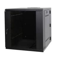 """Серверный шкаф 19"""" 12U AW6612 (600x600x635мм), настенный, 1 секция, стекл. дверь, черный, RackPro"""
