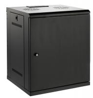 """Серверный шкаф 19"""" 12U AW6412E (600x450x635мм), настенный, 1 секция, металл. дверь, черный, RackPro"""