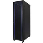 """Серверный шкаф 19"""" 38U RackPro EC6138B (600х1000х1878мм) передняя стеклянная дверь, черный"""