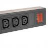 Блок силовых розеток PDU16C13-8000-AV, 32A, 16 розеток IEC320 C13, вход IEC309, индикация, Negorack