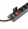 """Блок силовых розеток в стойку 19"""" NR-PDU8-30, 8 розеток, 16А, выключатель, шнур 3м, Negorack"""