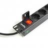 """Блок силовых розеток в стойку 19"""" NR-PDU8-18, 8 розеток, 16А, выключатель, шнур 1.8м, 1U, Negorack"""