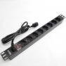 "Блок силовых розеток в стойку 19"" NR-PDU8-30U, 8 розеток, 16А, выключатель, шнур 3м, вилка C14"