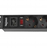 """Блок силовых розеток в стойку 19"""" NR-PDU8-U, 8 розеток,16А, выключатель, гнездо C14, Negorack"""